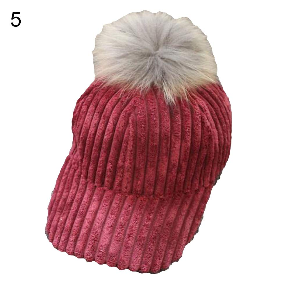 Infgreate Stylish Warm Hat Fashion Corduroy Men Women Outdoor Casual Sun Hat Adjustable Baseball Cap