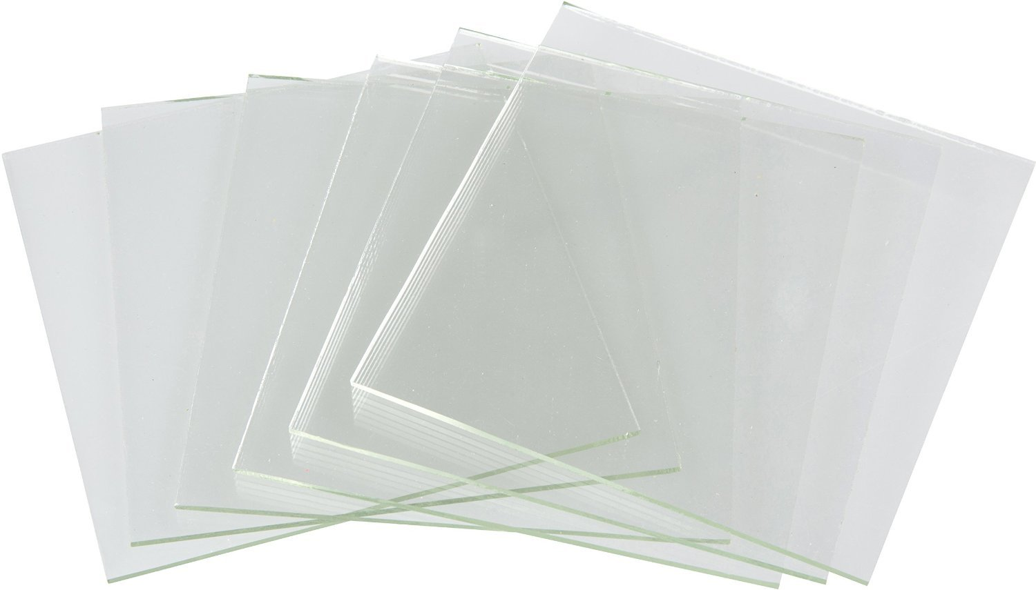 System 96-2 Inch Clear Fusible Glass Squares, 96 COE- 6 Pack iDichroic 4336904056