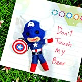 3D CAPTAIN AMERICA Fridge Refrigerator Magnet Cute Voodoo Doll Souvenir Gift Collectibles