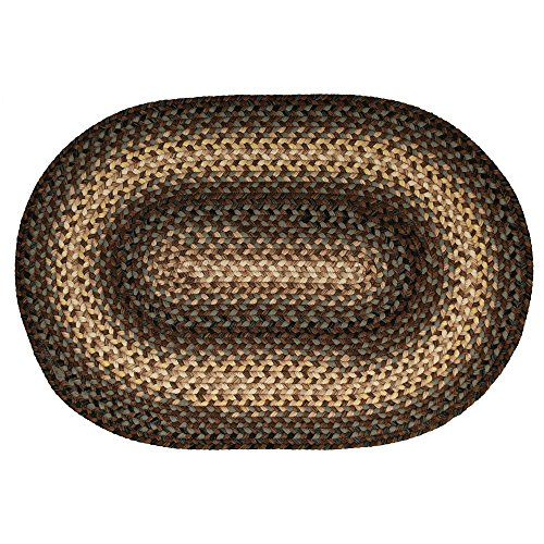Homespice Oval Outdoor Braided Rugs, 2-Feet by 3-Feet, Dr...