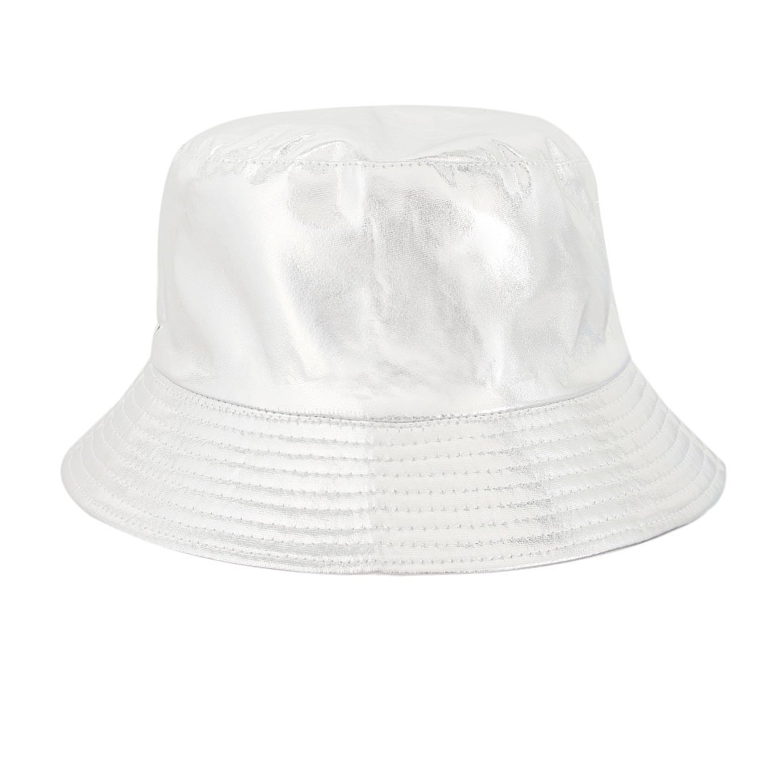 a0678ddcdf2 Surkat Unisex Metallic Foldable Bucket Hat Reversible Fisherman Cap Travel  Sun Hat(Silver) at Amazon Men s Clothing store