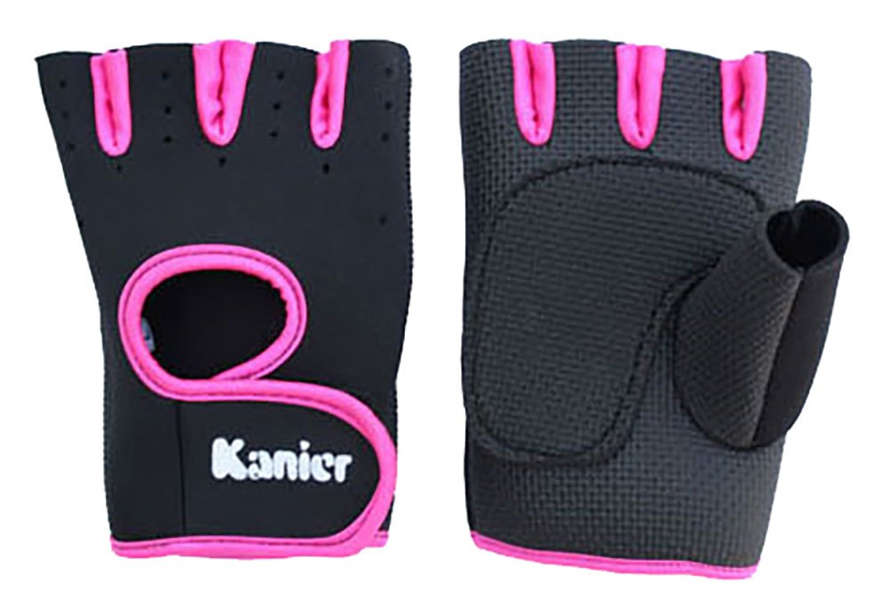 ChezMax Power-Grip Half-Finger Sports Gloves/Exercise Gloves Ideal for Cycling, Rowing,and Cross Fit Training, Rosered