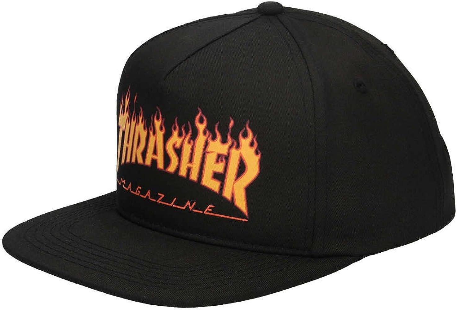 Gorra Thrasher Flame Logo Structured Snapback Black: Amazon.es ...