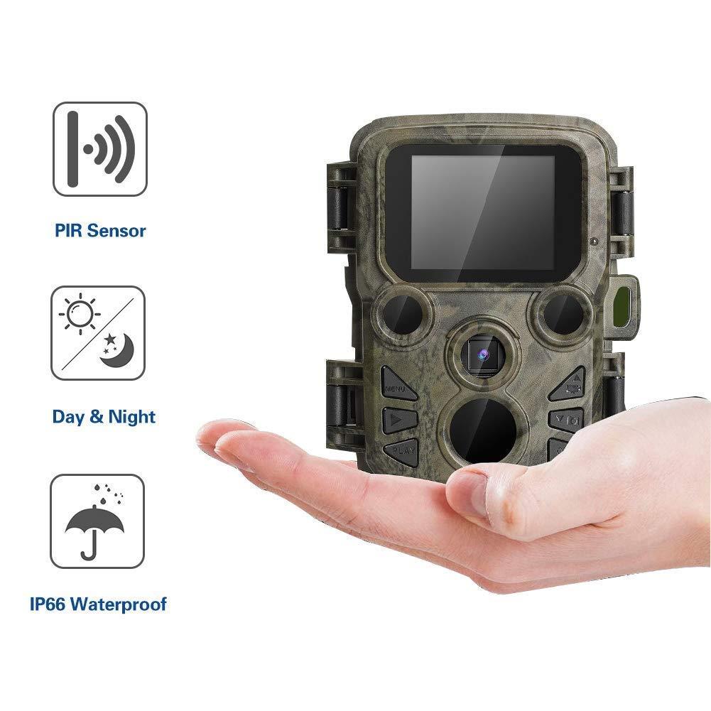 【即出荷】 トレイルカメラ、野生動物カメラナイトビジョン狩猟カメラ 1080P HD/屋外赤外線、20M 検出距離/12MP/0.2 秒トリガースピードゲームカメラ   B07Q8KDSSQ, あかい靴 28267e23