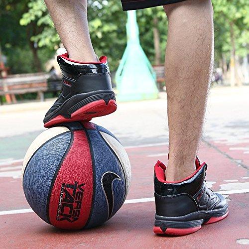 Leder High Top Basketballschuhe der pp. Art- und Weisemänner Schwarz