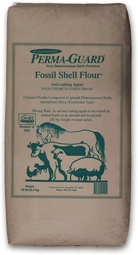 Perma Guard EGP-DE-50C erma Guard Diatomaceous Earth-DE Food Grade, 50 lb, White