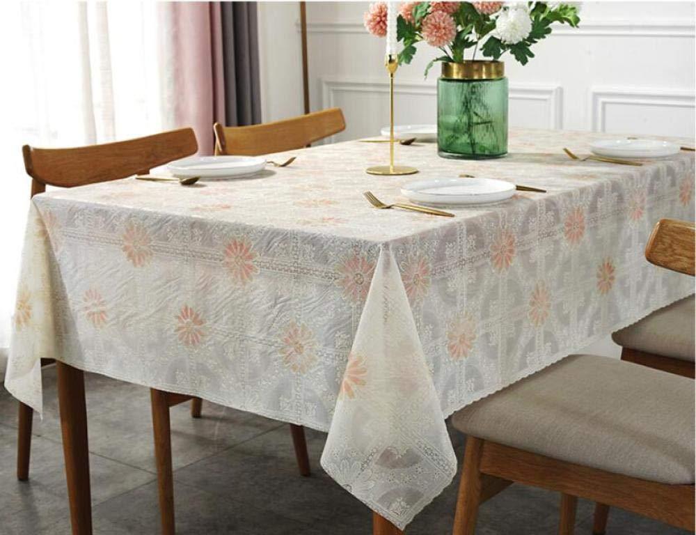 WJJYTX gartentischdecke eckig, quadratische wasserdichte Tischdecke-Gewebe-Inneneinrichtung für Partei-Hochzeits-Spitze Sun Flower @ 135 * 180