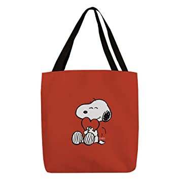 CafePress - Peanuts: Snoopy Heart - Polyester Tote Bag