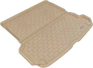 Kagu Rubber Tan 3D MAXpider Third Row Custom Fit All-Weather Floor Mat for Select Audi Q7 Models