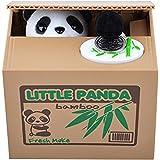 Huntgold, grazioso salvadanaio a scatola, con panda che ruba le monete, confezione da un pezzo