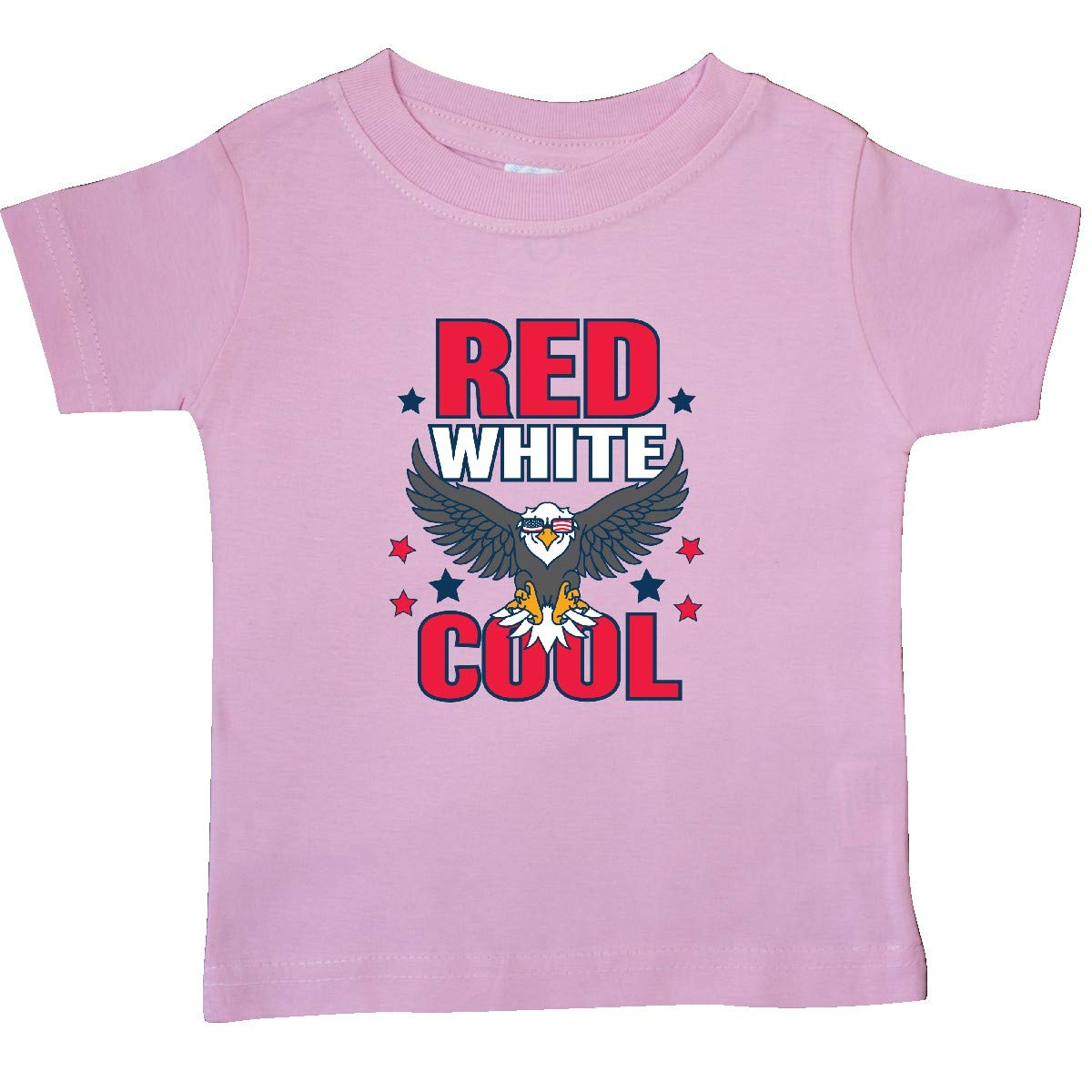 inktastic Red White and Cool with Eagle in Sunglasses Baby T-Shirt