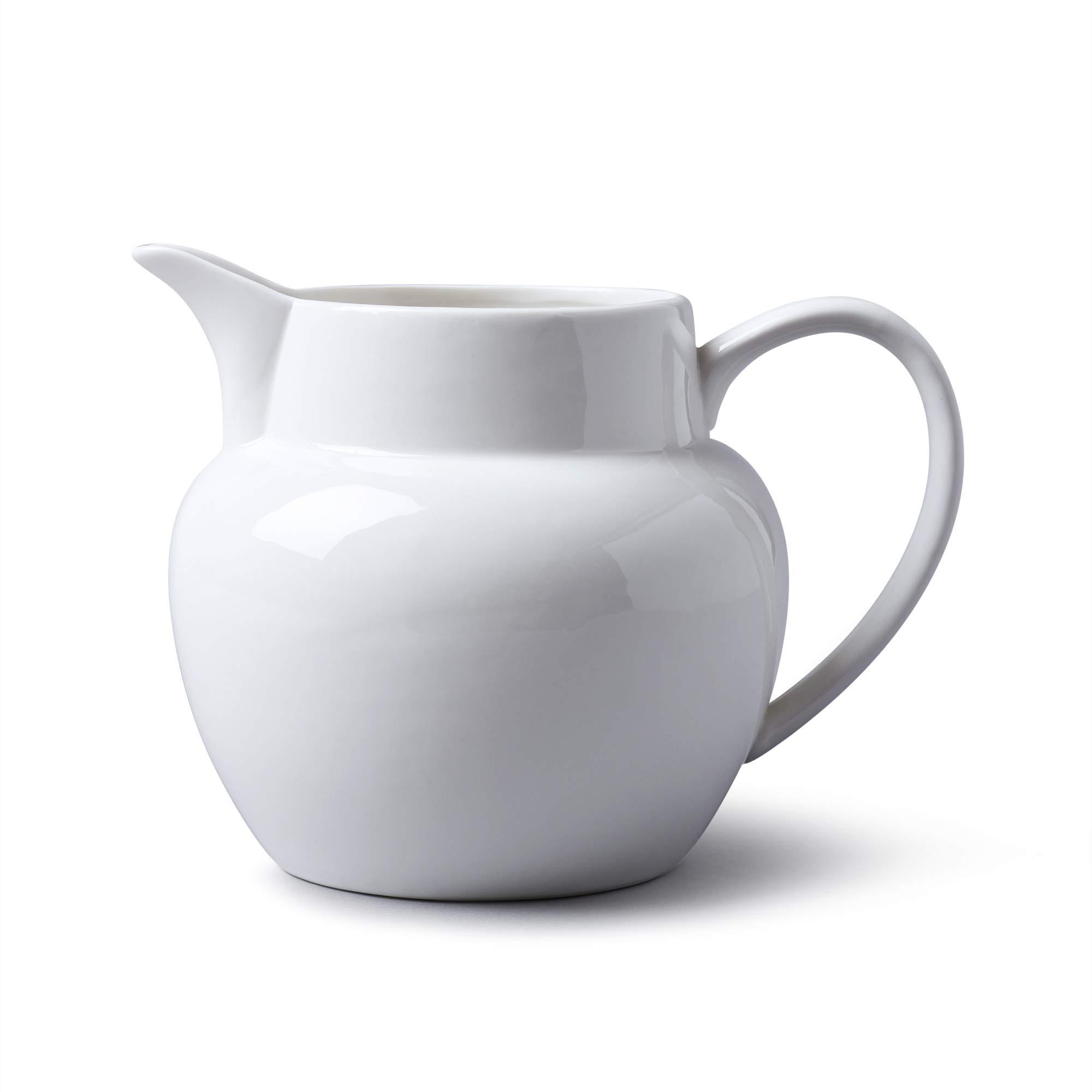 WM Bartleet & Sons 1750 T427 Porcelain Traditional Bellied Jug 1 Litre, 1000 ml, 1¼ Pint-White
