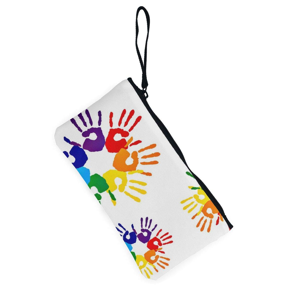 Maple Memories Gay Pride LGBT Rainbow Flag Portable Canvas Coin Purse Change Purse Pouch Mini Wallet Gifts For Women Girls