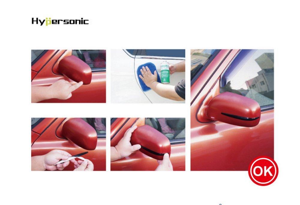 autocollant Hyper Sonic/® hp6166/Chrom/é//argent miroir Prot/ège Porte Protection Protection pare-chocs Ramm Protection pour la Voiture Miroir pare-chocs ou porte flexible Lot de 2 Mirror Protector