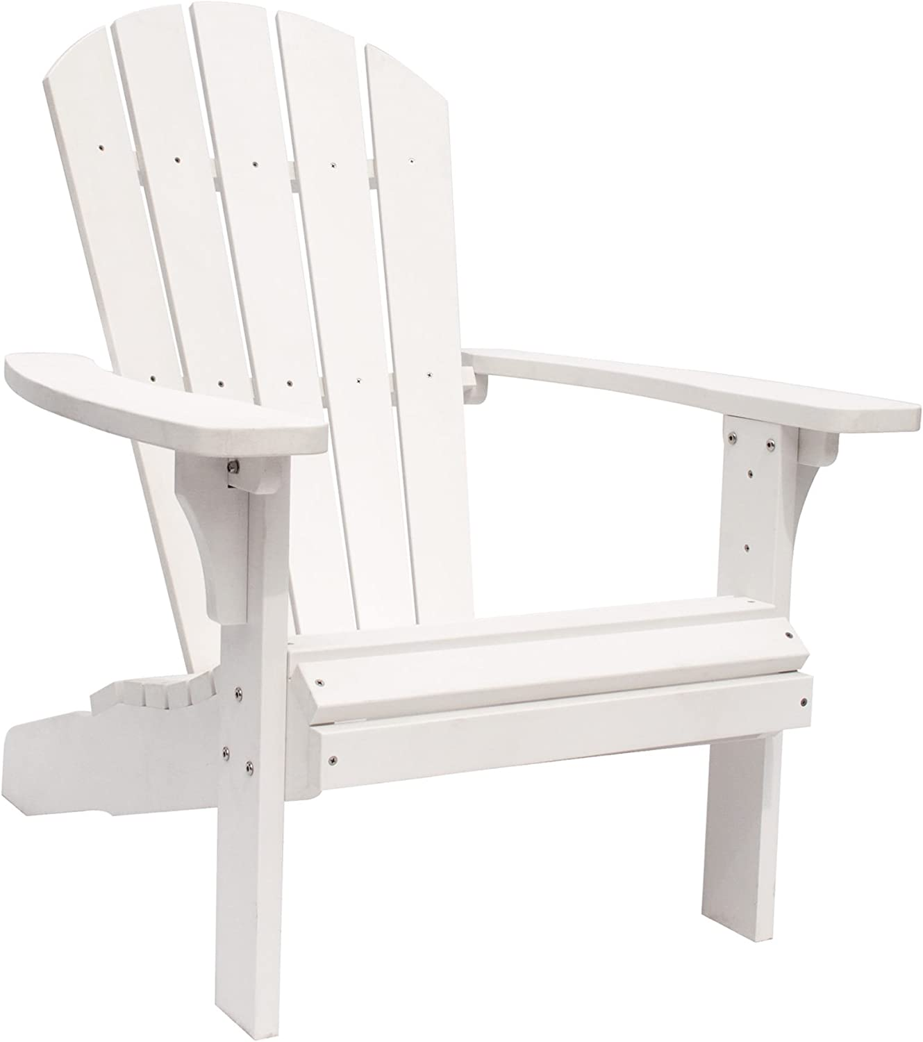 Shine Company 7618WT Royal Palm Adirondack Chair, White : Garden & Outdoor
