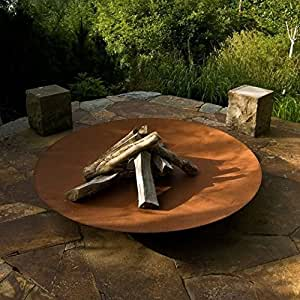 Corten Steel Bowl Burners -Fire Pits 120cm Garden Heating Heater Feature Furniture Patio