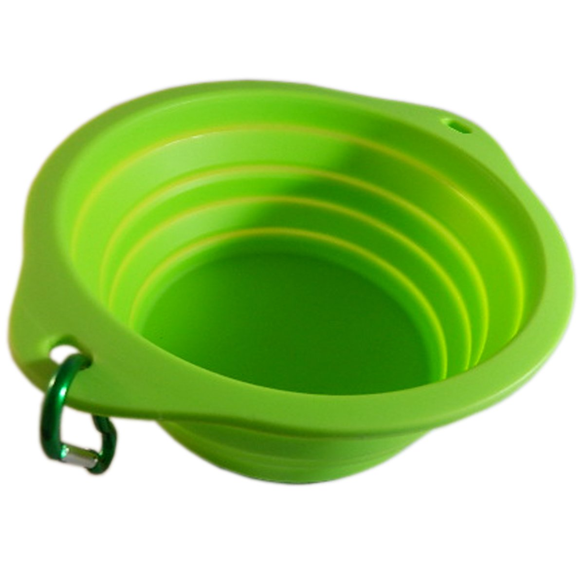 KIO Collapsible Pet Food Bowl for Traveling | Silicone Pet Food Bowl Made with Food Grade Silicone, BPA Free | Take Your Pet's Food Water Bowl with you | Travel Pet Bowl Perfect for Any Size Pet