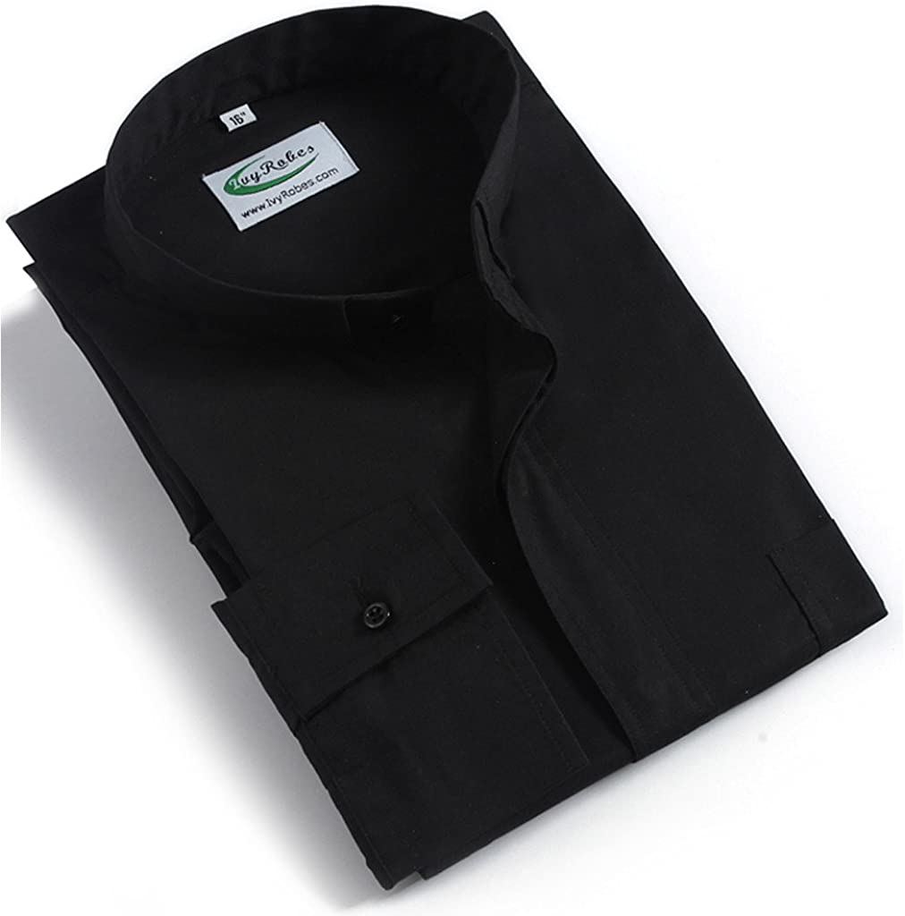 Ivyrobes - Camiseta de manga larga con alzacuellos para hombre, color negro Negro negro XX-Small: Amazon.es: Ropa y accesorios