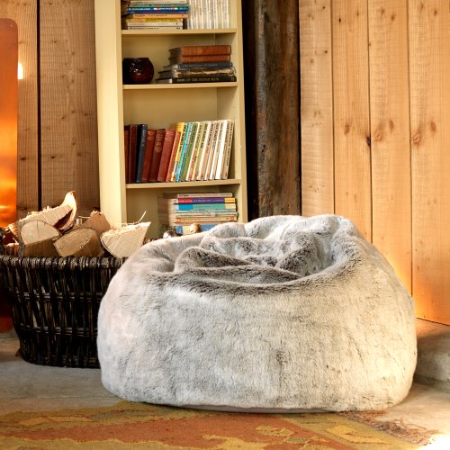 ICON Extra Large Luxury Faux Fur Bean Bag Chair