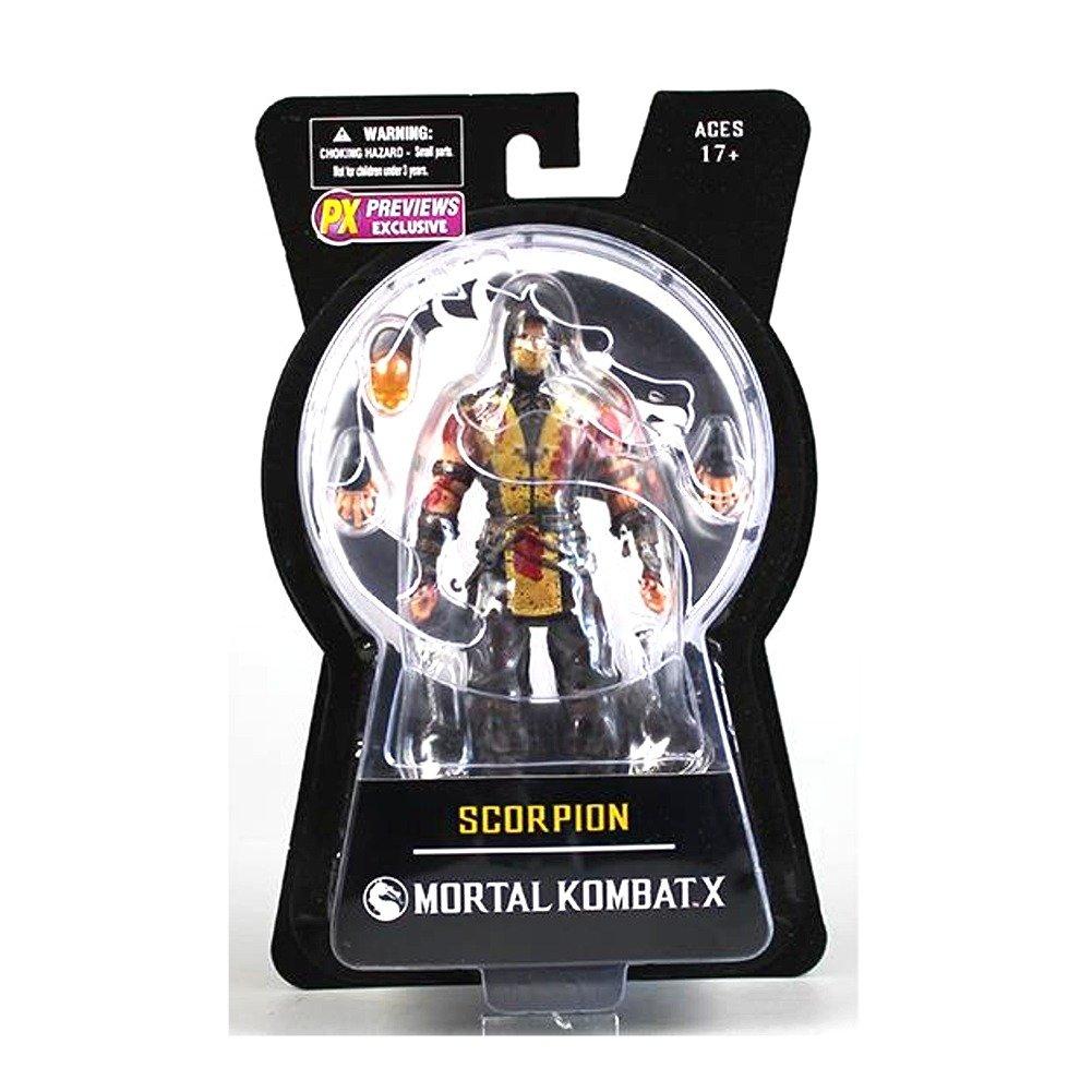 "Amazon.com: Mezco Toys Mortal Kombat X: Scorpion (Bloody Version) 6"" Action Figure: Toys & Games"