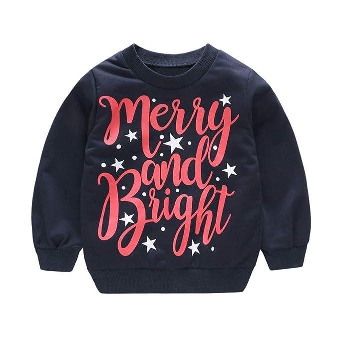 POLP Niño Regalo Navidad Bebe Pijama Rojo Navidad Bebe Disfraz Ropa Invierno Bebe niña Unisex Manga Larga Camiseta de Elk suéter Top Reno 12meses-4años: ...