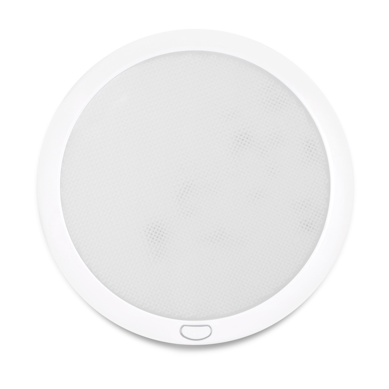 Dream Lighting 12volt LED Panel Ceiling Dome Light Fixture with Switch for RV Motorhome & Marine-8.5 Inches, with Memory Function, Cool White & Blue