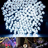 Solar Outdoor String Lights, Yoland 72.2Ft/22m 200LED Waterproof Starry Fairy Decorative Lights for Xmas, Home, Garden, Party, Yard, White