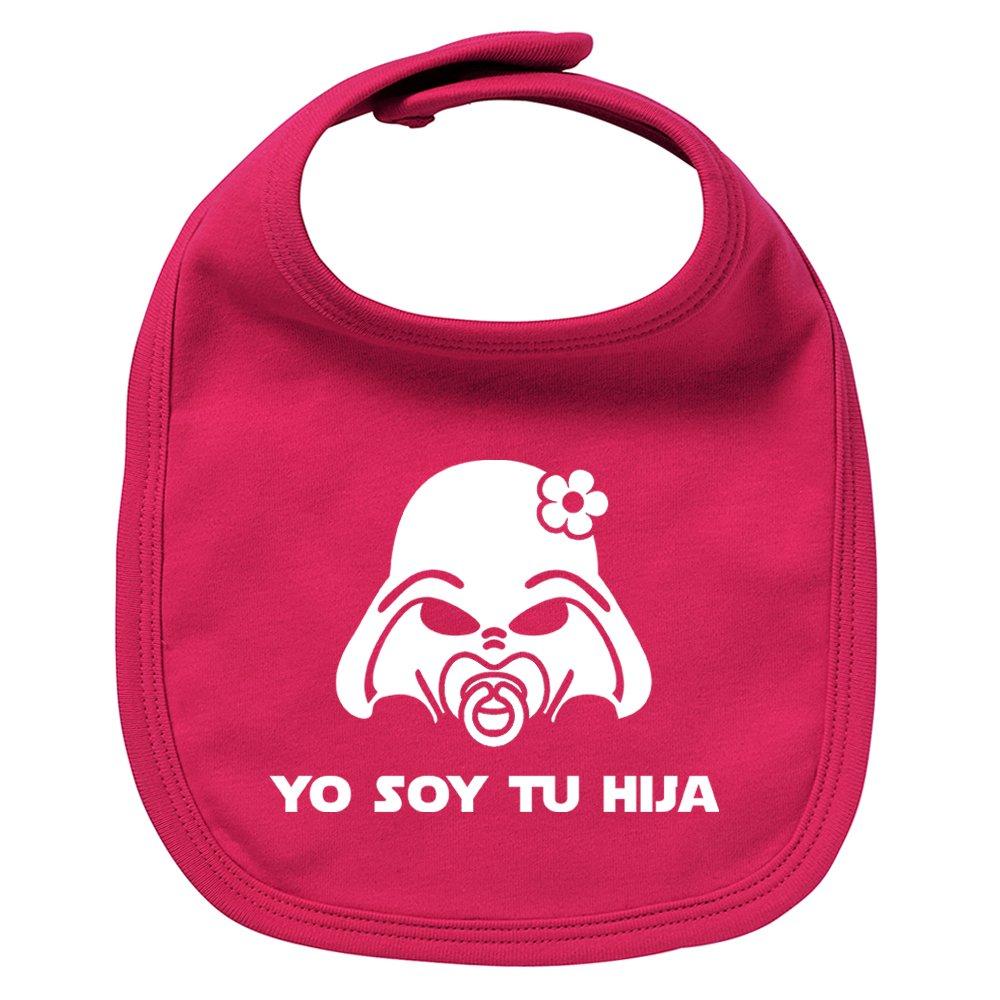 Babero de bebé Yo soy tu hija (Yo soy tu padre - Darth Vader / Star Wars - parodia). Regalo original. Babero bebé divertido. Bebé friki.