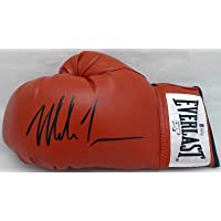 $129 » Mike Tyson Autographed Red Everlast Boxing Glove LH Signed In Black Beckett BAS Stock #182690