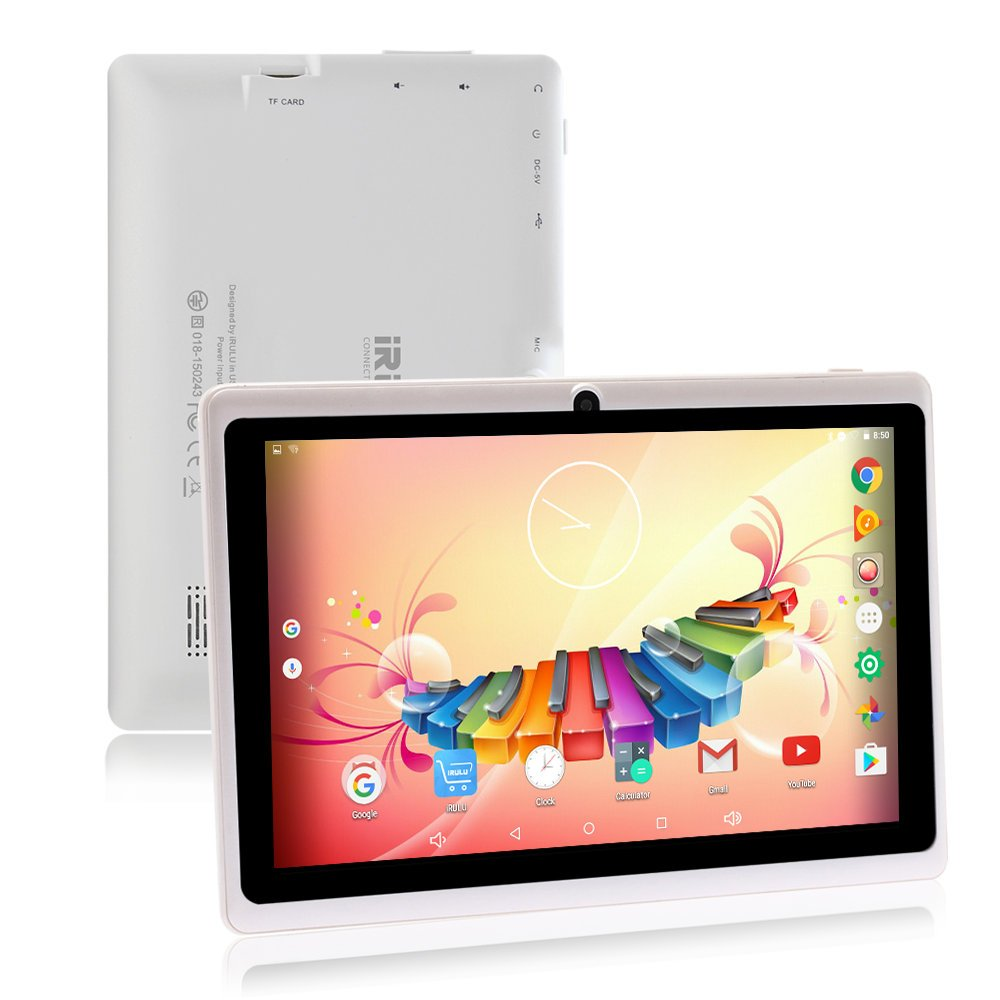 Tablet da 7 Pollici Google Android 8.1 Quad Core 1024x600 Dual Camera Wi-Fi Bluetooth 1GB/8GB Play Store Netfilix Skype 3D Game GMS Supportato con Certificazione di un Anno di Garanzia (Bianco) ZONKO