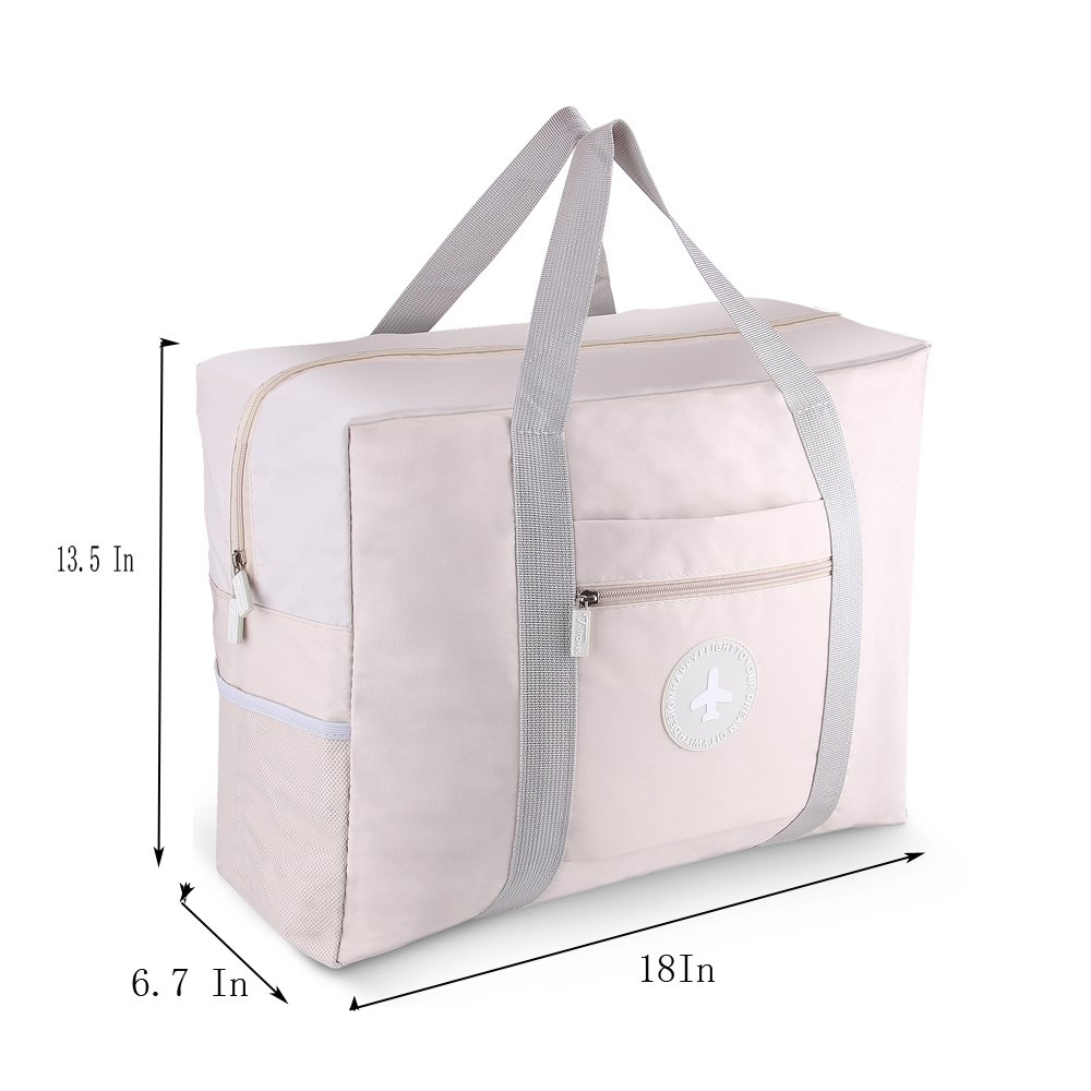 Foldable Travel Bag Waterproof Travel Tote Bag Foldable Bag Fully Lined with Gray Fabric (UPGRADE) by MuYiZi (Image #4)