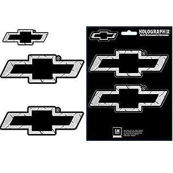 Chevy Chevrolet Bow Tie Logo Silver Treadplate Pattern Auto Car
