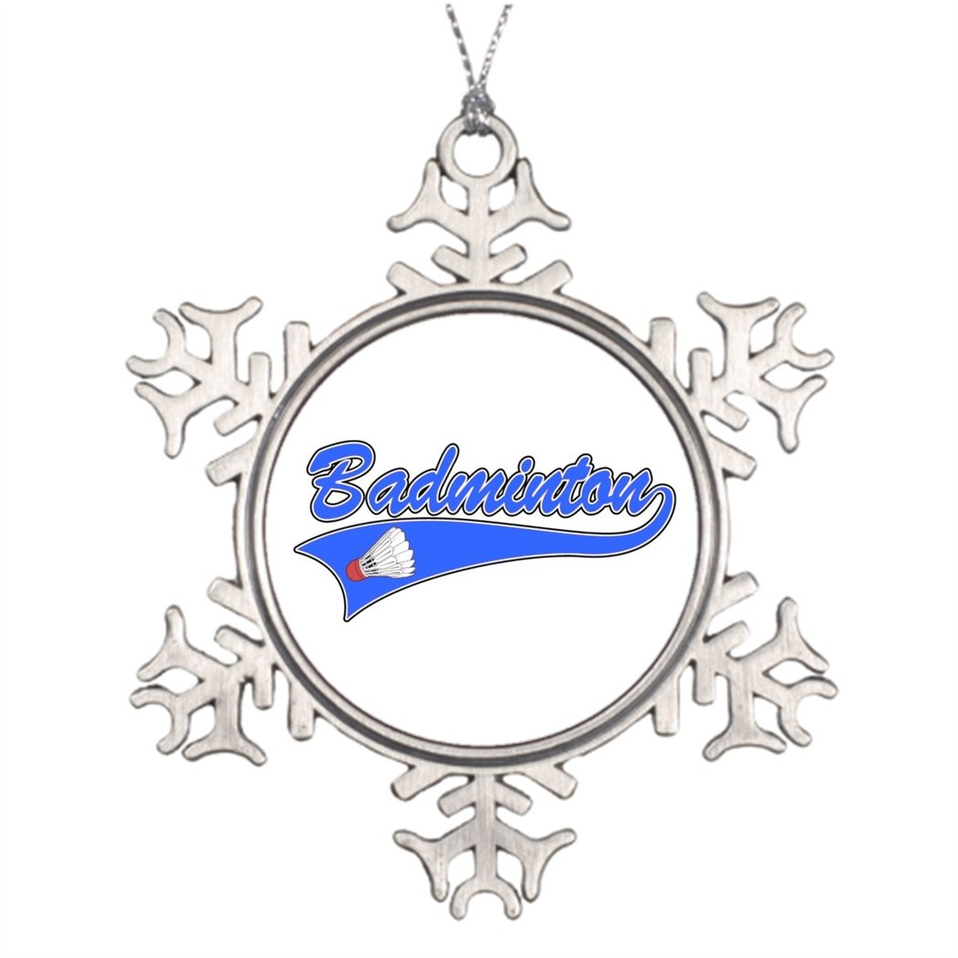 Personalised Christmas Tree Decoration Badminton and Gifts. Small Snowflake Ornaments Hobby
