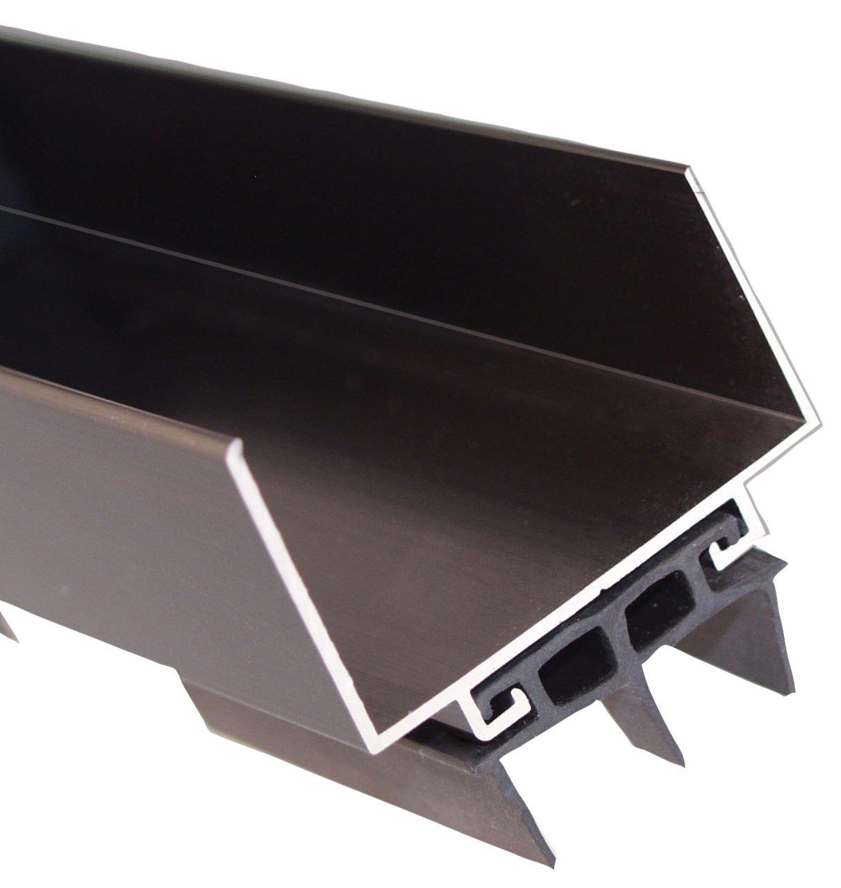 Dark Bronze 36 Length Pemko 085596 2173DV36 Door Shoe 2 Width Dark Bronze Finish with Black Eco-V Insert