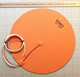 KEENOVO Circular/Round Silicone Heater Pad,Dia 400mm 900W 120V, with 3M PSA & NTC 100K thermistor for Huge Delta 3D Printer HeatedBed or Steel Tank Bucket Container Bottom Heater