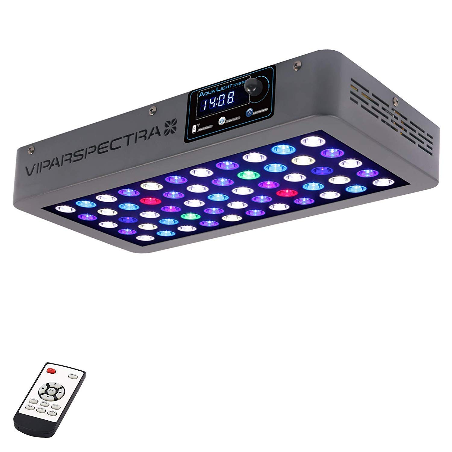 VIPARSPECTRA Timer Control Dimmable 165W LED Aquarium Light Full Spectrum for Grow Coral Reef Marine Fish Tank LPS/SPS by VIPARSPECTRA
