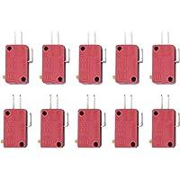 10pcs Rojo 3pines pulsador Micro Interruptor De Repuesto