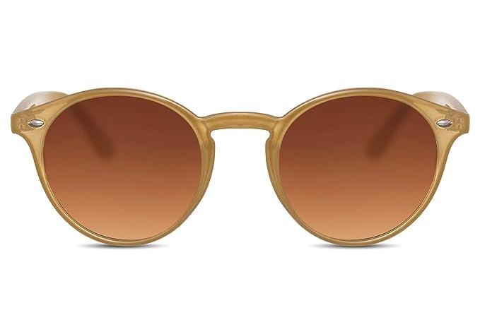 Cheapass Gafas de Sol Redondas Unisex Light Transparant ...