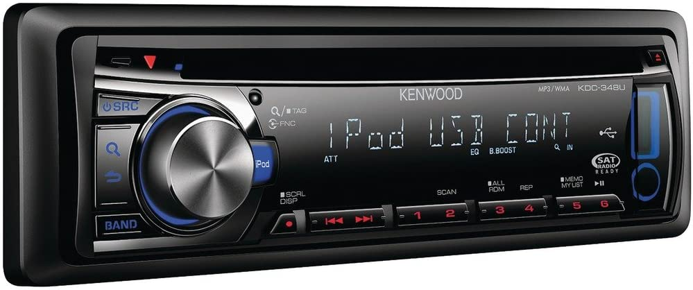 Kenwood KDC-348U In-Dash CD Receiver USB Input on kenwood stereo wiring diagram, kenwood kdc 138 pinout, kenwood kdc x695 manual, kenwood kdc 248u wiring, kenwood radio wiring colors, cd player wiring harness diagram, kenwood model kdc wiring-diagram, kenwood kvt 512 wiring, kenwood wiring harness diagram colors, kenwood radios kdc 215s,