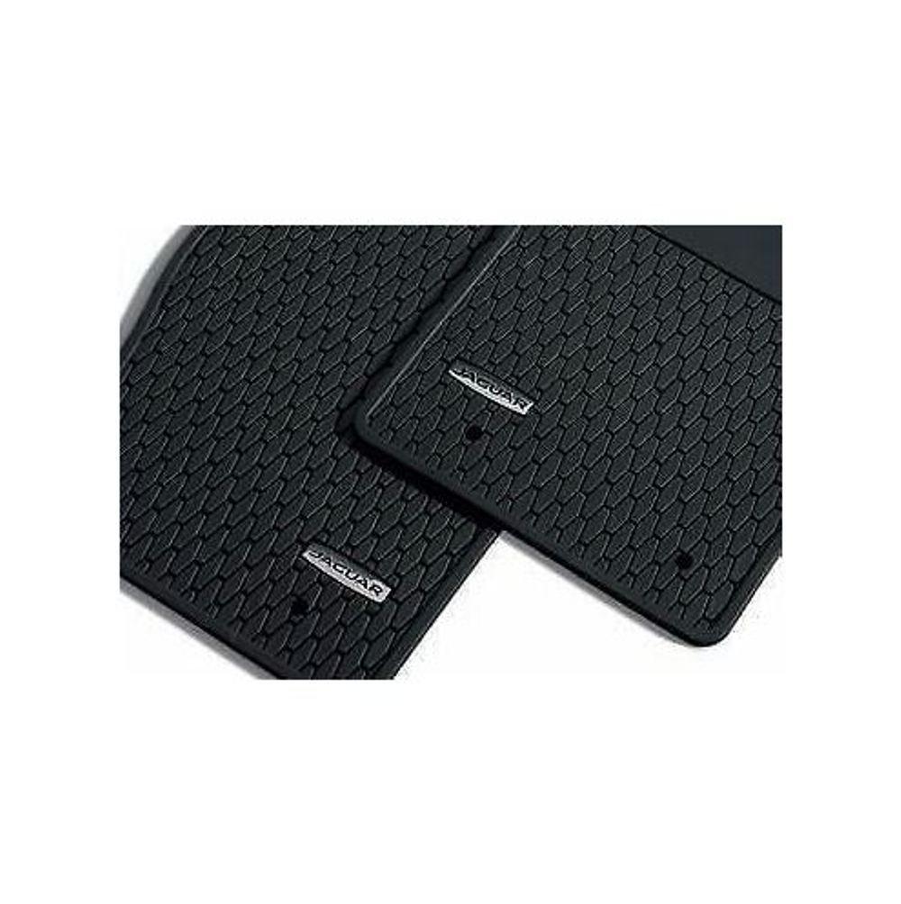 Jaguar OEM Accessory F-Type Ebony Utility (Rubber) Floor Mat Set