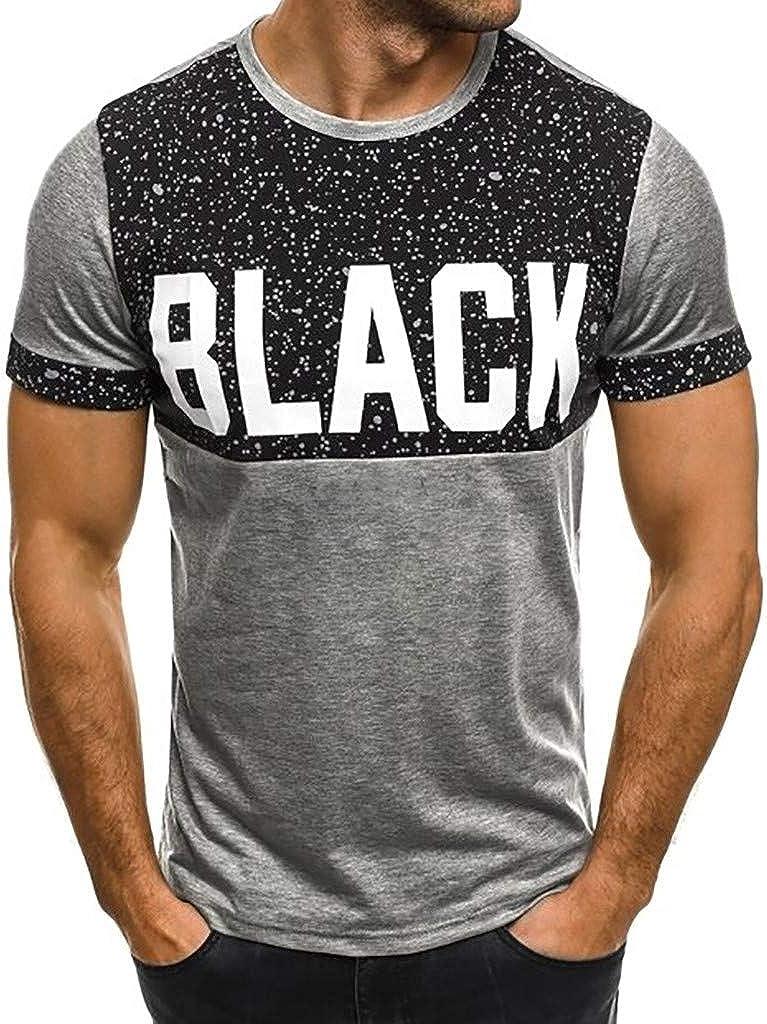 Camisetas de Mangas Cortas, YpingLonk T-Shirt para Hombre Lugar Print Primavera y Verano Camiseta Cuello Redondo Letra tee: Amazon.es: Ropa y accesorios