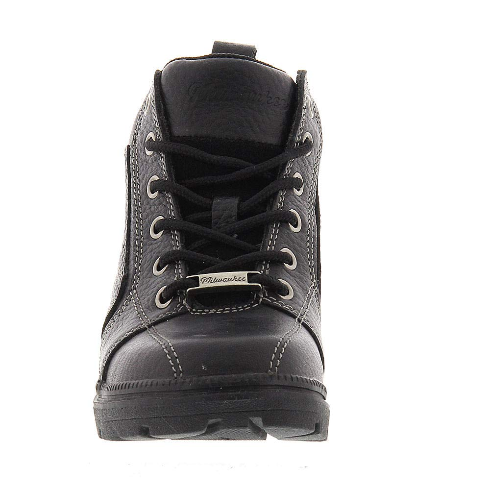 Black, Size 6 Milwaukee Motorcycle Clothing Company Womens Deceiver Boots