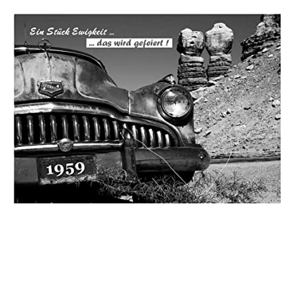 DigitalOase Tarjetas de invitación 1958 60 cumpleaños 60 ...