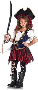 Leg Avenue's Girl's Caribbean Pirate Costume, Multicolor, Medium