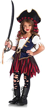 Disfraz de pirata del Caribe de Leg Avenue, talla mediana.: Amazon ...