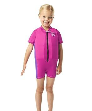 Speedo Sea Squad - Traje de baño flotante para niño rojo RaspberryFill/PurpleRain Talla:4-5: Amazon.es: Deportes y aire libre