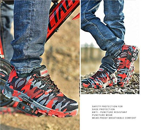 GUDUN Breathable Steel Toe Shoes for Men Steel Toe Sneakers Steel Toe Boots for Men (9-15 to delivery) (US Men 9, GD01) by GUDUN (Image #4)