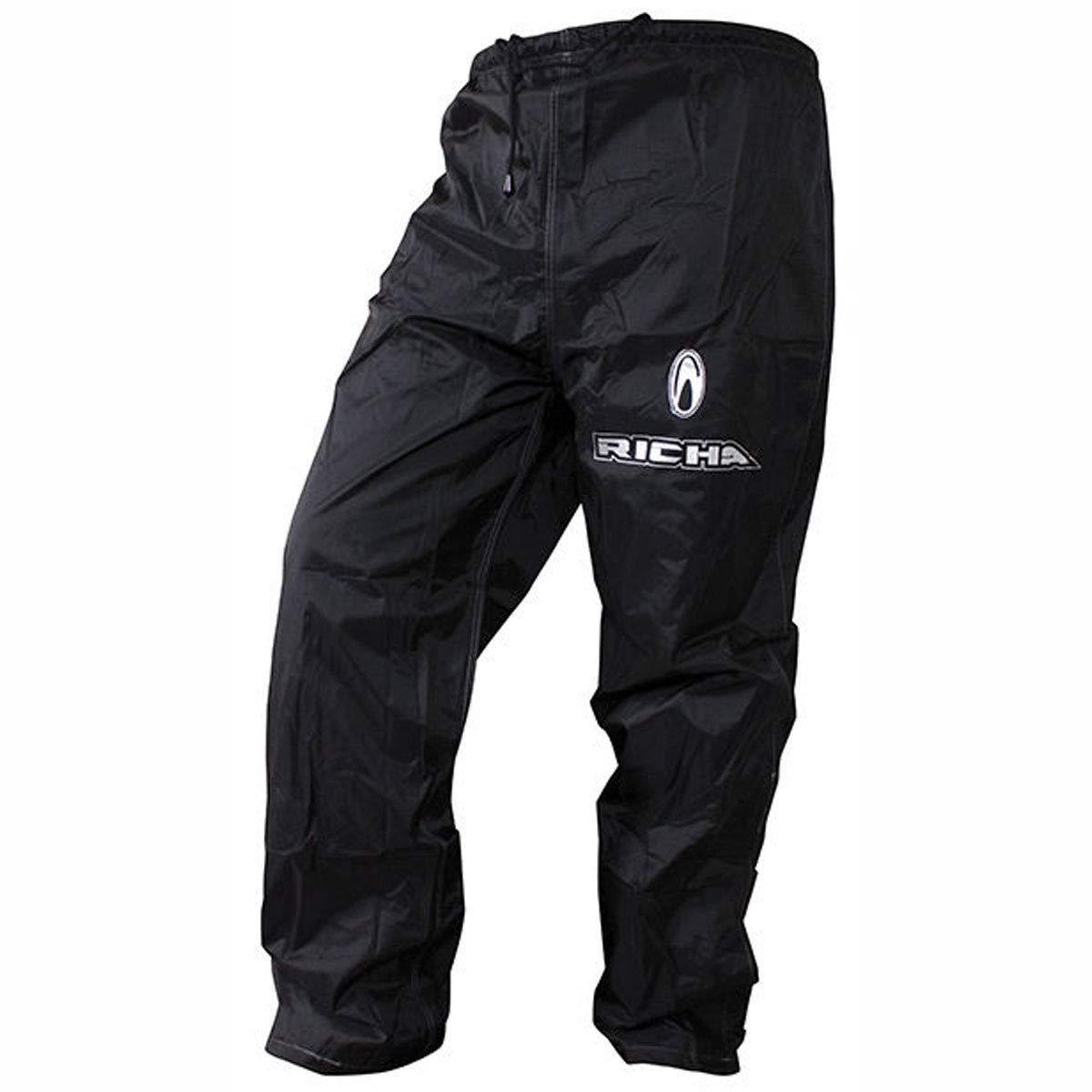 Color Negro Richa Lluvia Guerrero Mens Pantalones de Moto