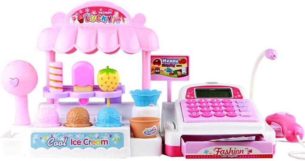 DANDANdianzi Los niños de plástico Caja registradora para niños Juguetes educativos Simulación supermercado Ice Cream Shop Girl Juguetes Set