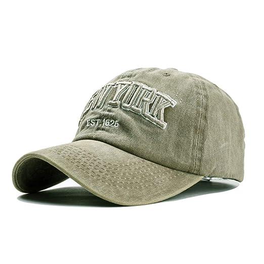 03e6b3934 Baseball Hat New-York Distressed-Adjustable-Strapback - Washed Cotton Dad  Hat Unisex